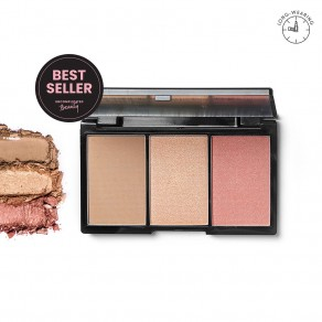 Blk Contour, Blush & Highlight Palette - Flushed