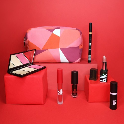 Blk Holiday Cosmetics Pouch Gift Set Scarlet Beauty