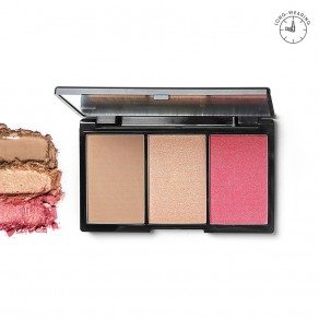 Blk Contour, Blush & Highlight Palette - Rouge